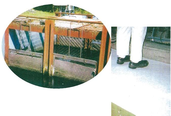 設置例(廃水濾過、床面の油吸着)