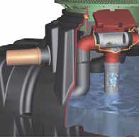 オーバーフロー排水で不純物を除去