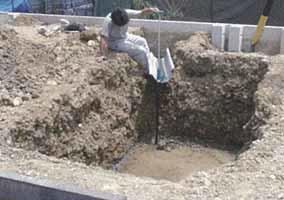 ①土の掘削