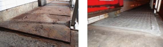 従来鋼板蓋(発錆)→樹脂蓋に交換
