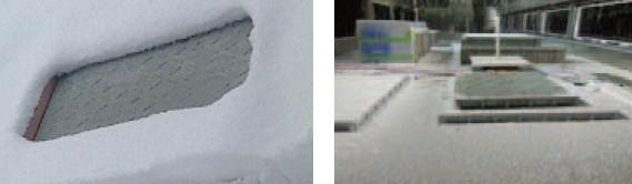 融雪機能付樹脂蓋:降雪対応
