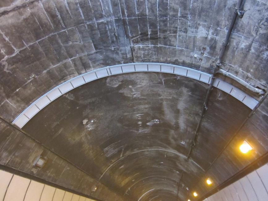 アーチ・ドレン 施工現場(笹子トンネル)
