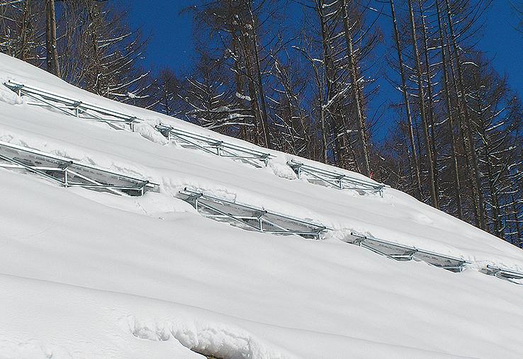 小段拡幅雪崩予防工スノテップ®