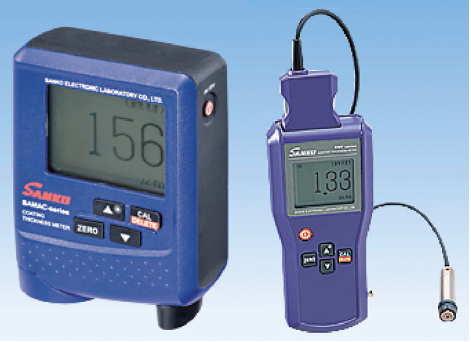 膜厚計(左:SAMAC-FN、右:SWT-9000)