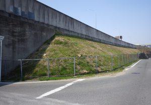 (施工例)高速道路 法面 施工前