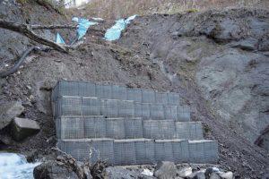 災害復旧 コンクリート擁壁(残存型枠)1