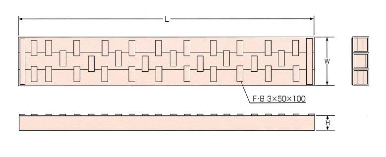 軽量覆工板標準図