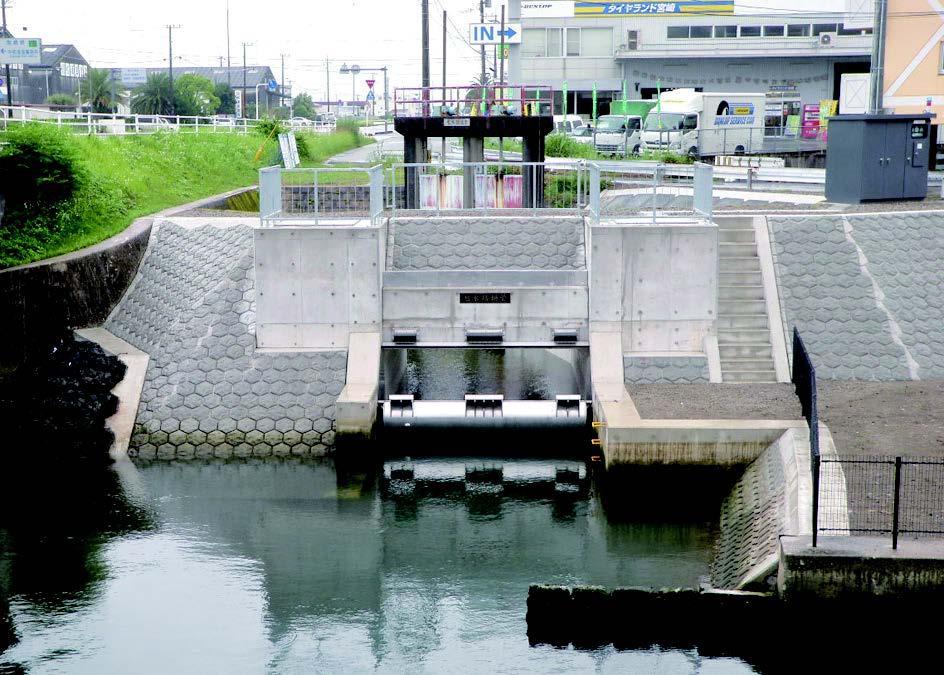 排水樋管での適用例(幅4.0m×高さ2.5m)