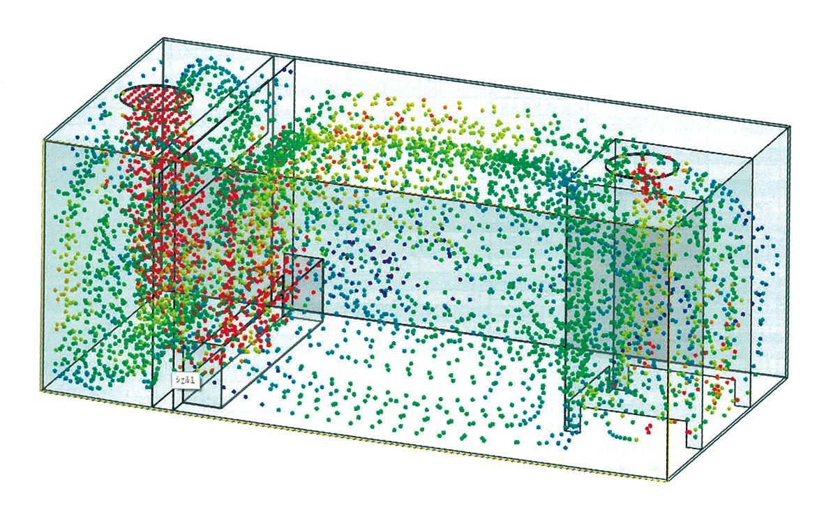 流体解析を用いた流速分析