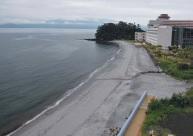 養浜から半年後の海岸
