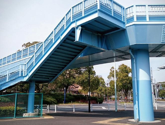 防食事例:歩道橋