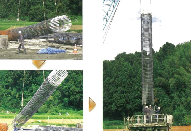 12mの長さのかごでも建て起こしが可能