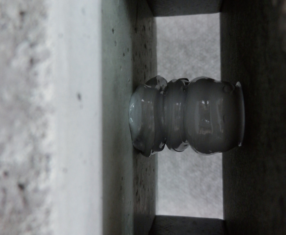 FSコラム工法 樹脂注入状況