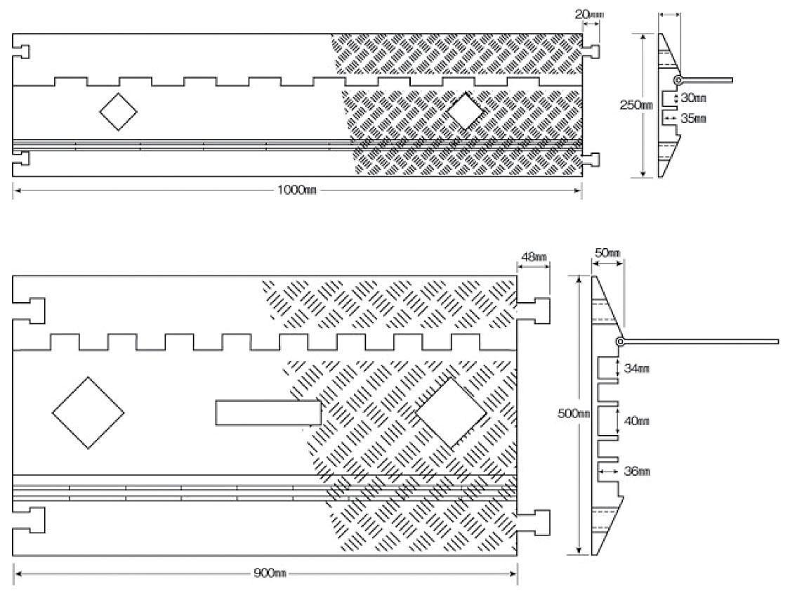 スリム収納タイプ・プロ 下:ワイド収納タイプ・プロ