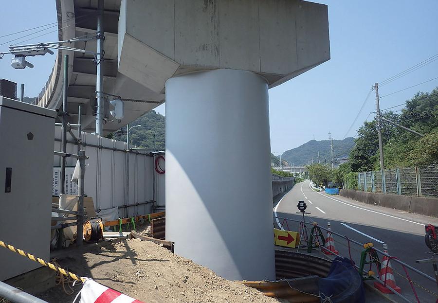 AT-P工法の鳴門IC ランプ橋(徳島県)
