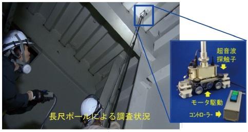 SAUTロボットによる探傷状況