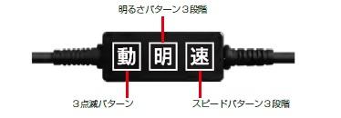 明るさは3段階、ワンタッチでモード選択