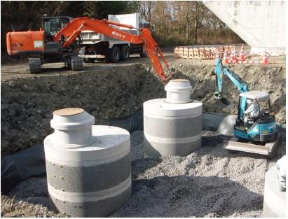 浸透井戸による流出抑制施設