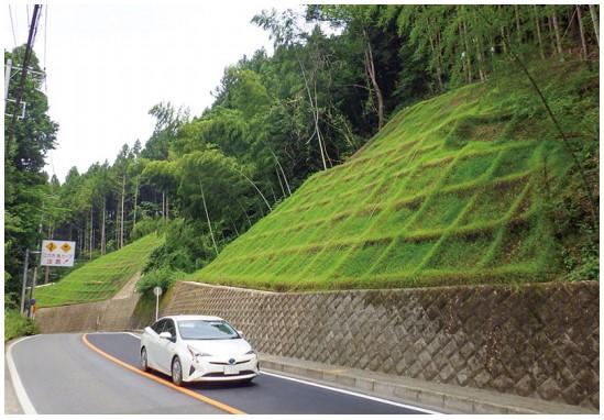 景観に配慮した道路のり面の施工例