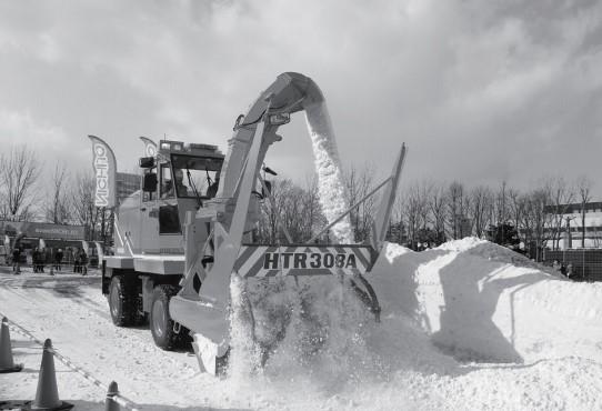 ロータリ除雪車 HTR308A除雪作業状況