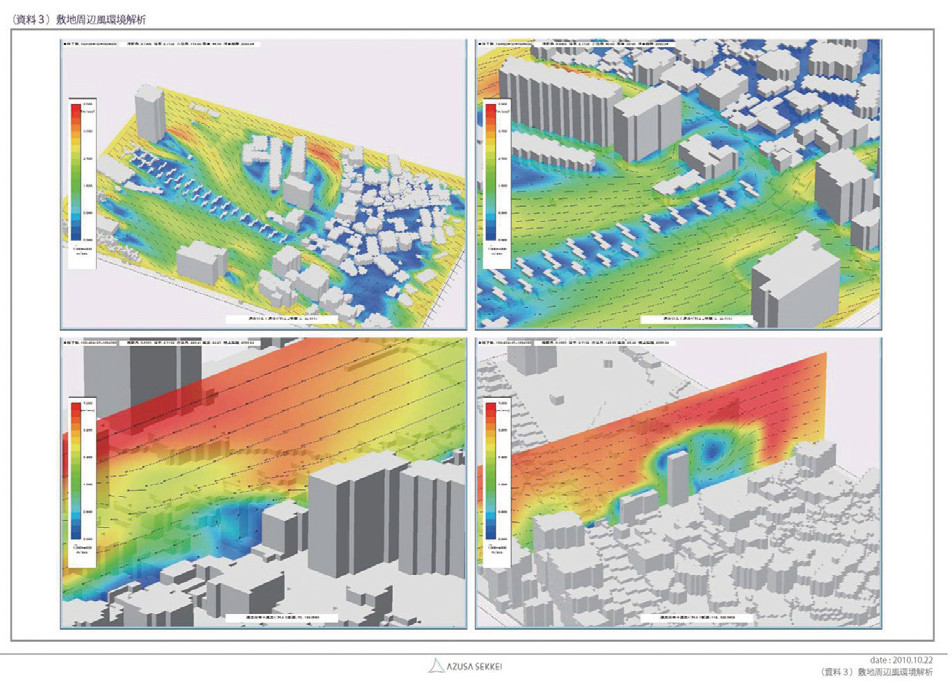 図-2風環境シミュレーション