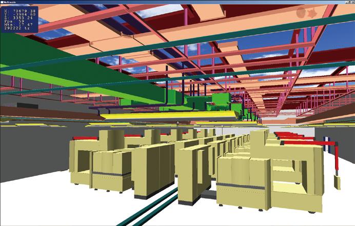 設備機器レイアウト設計 天井配管