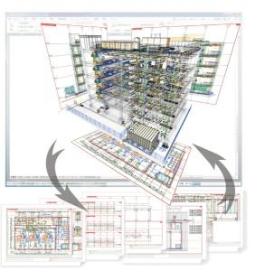 モデルデータから各種図面を生成し、修正もリアルタイムに連動