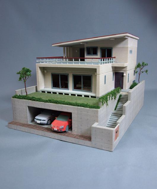 話題の3Dプリンタを利用してフルカラーで住宅模型を出力できる