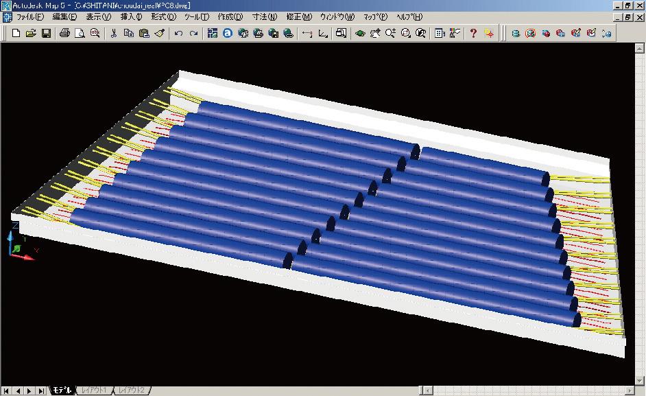 図-4 PC中空床版橋のプロダクトモデル図
