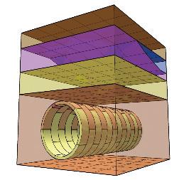 図-6 IFC-ShieldTunnelによる地層、空洞、セグメント