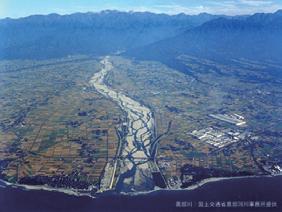 写真-4 黒部川の扇状地形