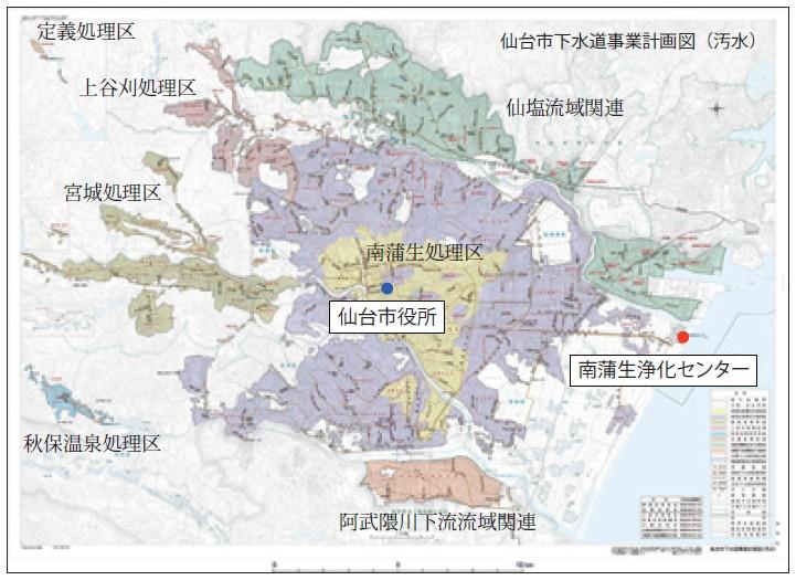 図-2:仙台市公共下水道計画図