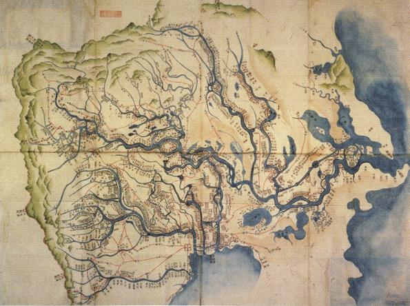 図-1 関東水流図(静嘉堂文庫所蔵)