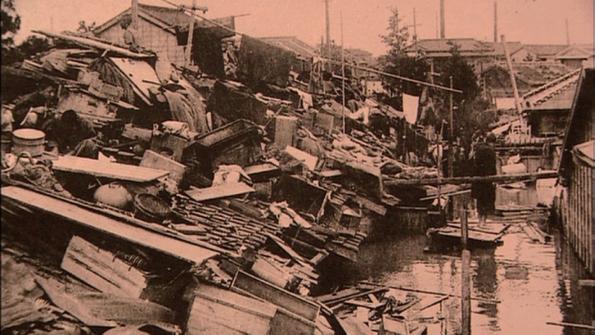 写真-3 明治43年東京大水害(荒川知水資料館)