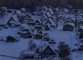 写真-1  雪の白川郷(岐阜県)