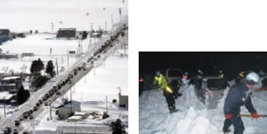 写真-1 暴風雪・大雪災害