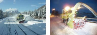 写真-2 除雪機械による国道除雪
