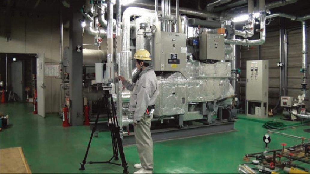 図-2 レーザー計測器と治具の設置イメージ