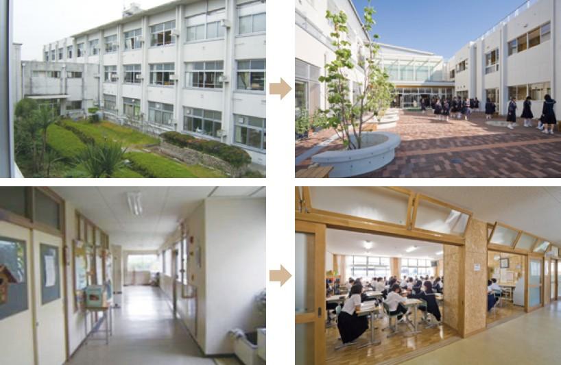 写真-2 愛知県 北名古屋市立西春中学校