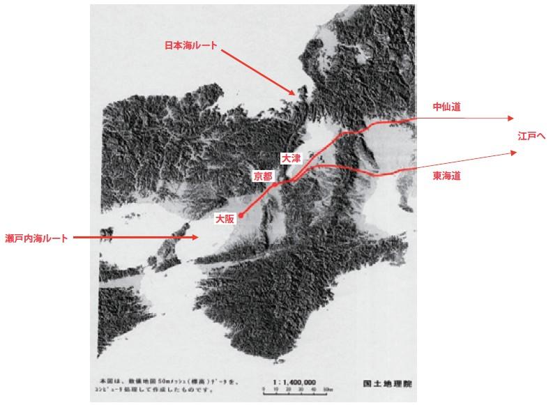 図-2 京都への東の玄関口:大津