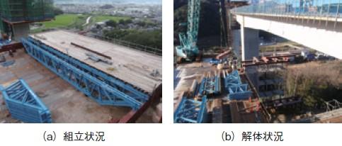 写真-3 A2側径間部の支保工横移動