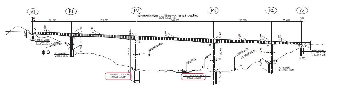 図-3 敦賀衣掛大橋の橋梁一般図