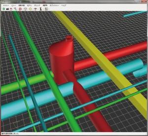 図-5 3Dによる干渉チェック