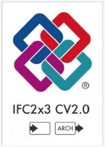 図- 2 国際IFC認証ロゴ(IFC2x3 CV2.0の入力および意匠モデル分野出力)