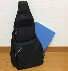 図-13 ワンショルダーバッグに収納したiPad