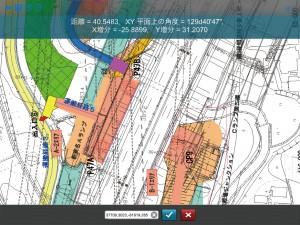 図-5 CAD上で距離を測定
