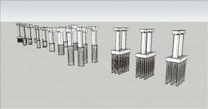 図-6 杭も含めた橋脚の3Dモデル