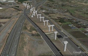 図-7 「Google Earth」に配置した3Dモデル