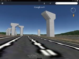図-8 高速道路走行車から見たモデル