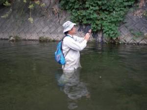 図-3 河川での現況調査にて